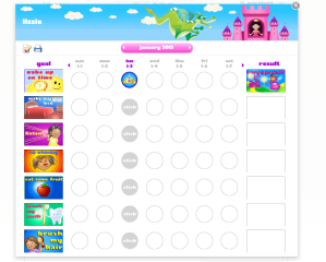 Making a pretty chore chart online
