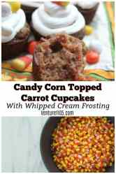Candy Corn Topped Carrot Cupcakes