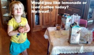 Our first ever Lemonade and iced coffee stand! So fun