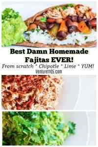Chicken Fajitas & Homemade Guacamole Recipe