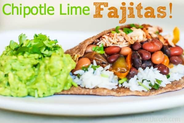 Fresh Clean Eating Chipotle Lime Fajitas