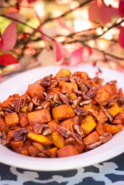 Clean Eating Roasted Winter Squash & Pecans