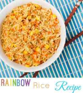 Rainbow Rice Recipe – Leftover Turkey idea