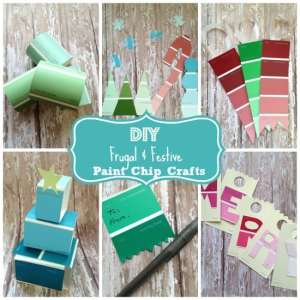 Festive & Frugal Paint Swatch Crafts – Fun during Christmas break!
