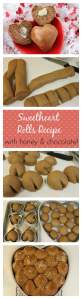 Honey Chocolate Sweetheart Rolls Recipe