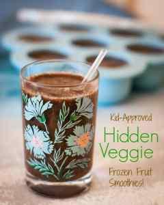 Single-serve frozen fruit smoothies (with hidden veggies)