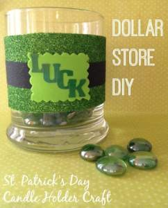 Frugal St. Patrick Day Craft – DIY Candle Holder Decoration