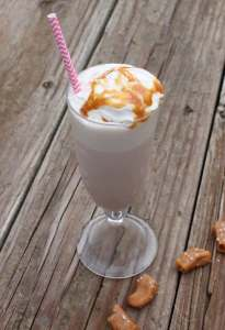 Salted Caramel Butterscotch Chocolate Milkshake