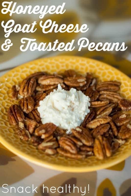 Honeyed Goat Cheese and Toasted Pecans healthy snack