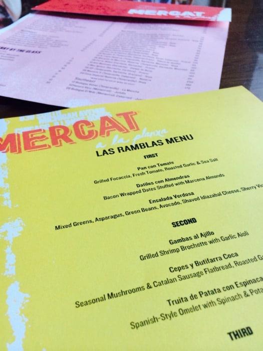 Mercat menus