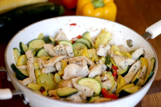 Chicken and Veggie Skillet Dinner Recipe