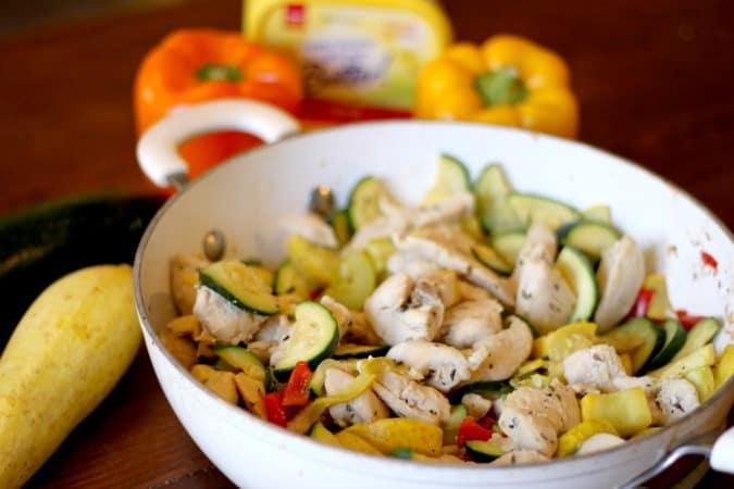 Veggie Chicken Skillet Dinner Recipe