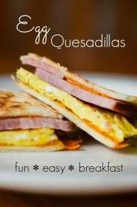 Breakfast Egg & Ham Quesadilla Recipe