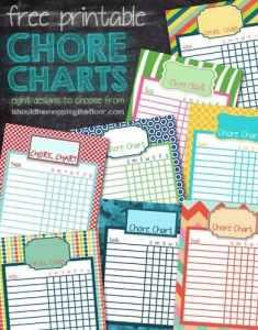 20 Free Printable Chore Charts