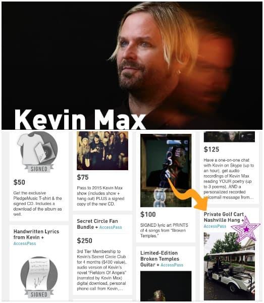 Kevin Max Pledge Campaign