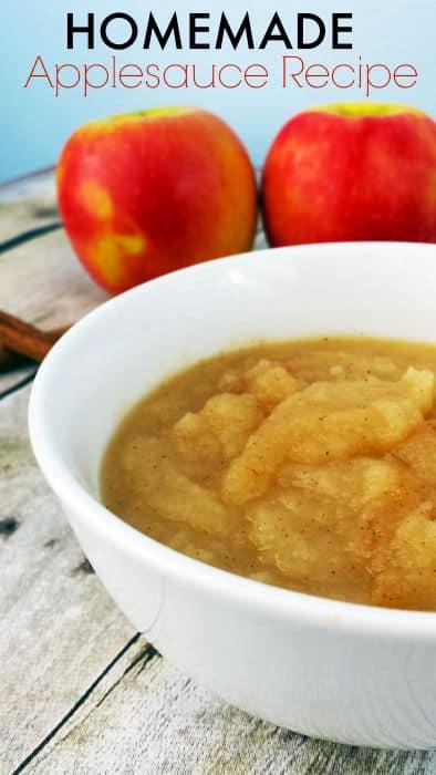Homemade Cinnamon Applesauce Recipe