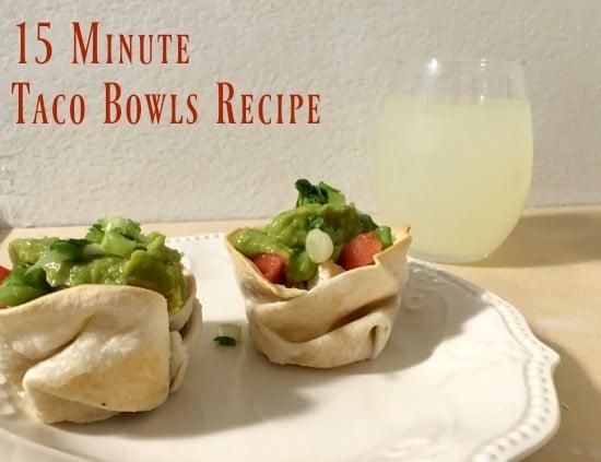 15 minute taco bowls recipe