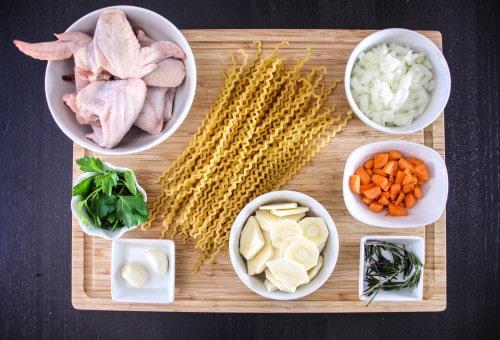 Fusilli Pasta Chicken Soup-1