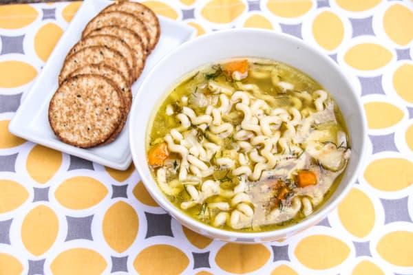Fusilli Pasta Chicken Soup-11