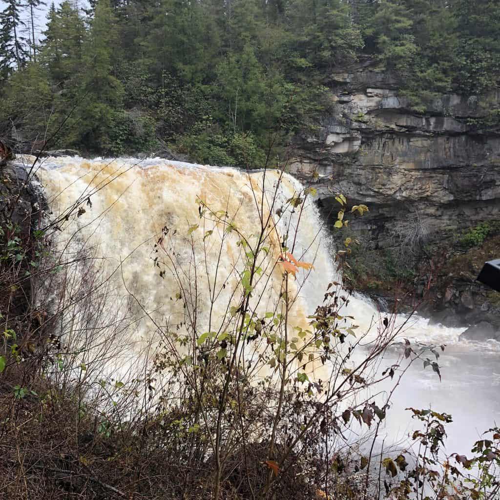 The Blackwater Falls waterfall