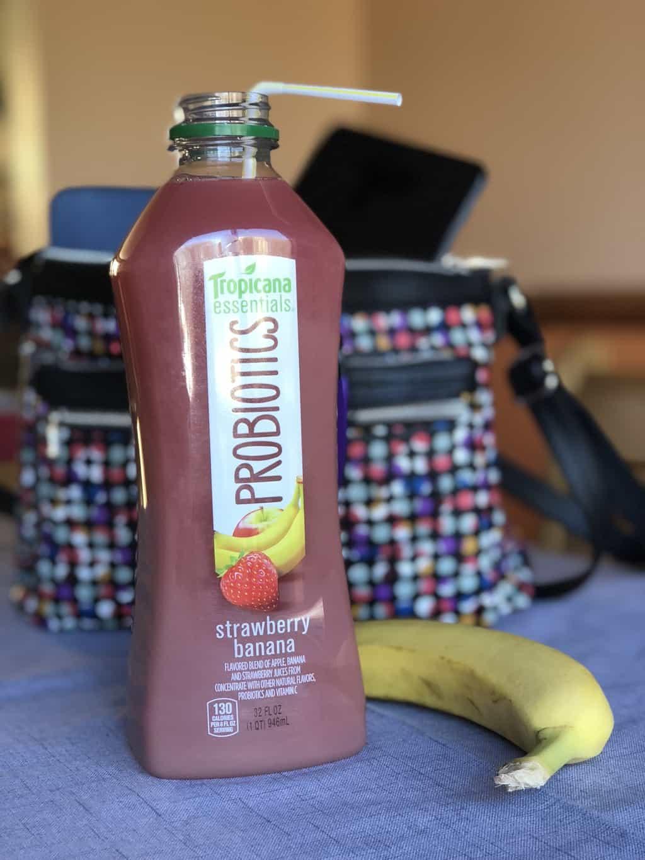 Tropicana Probiotics Drink and Banana