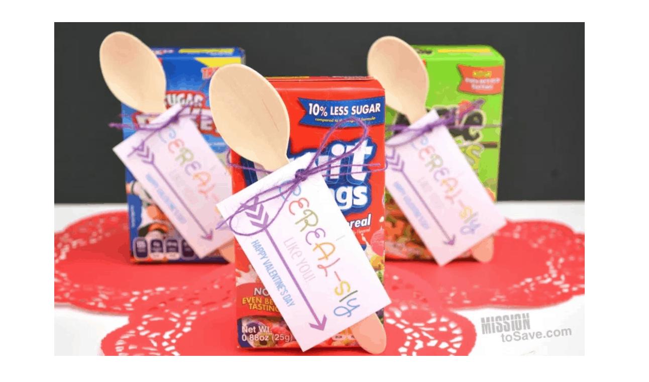 Cereal Valentine Printable