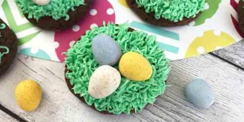 Chocolate Cake Birds Nest Cookies Recipe
