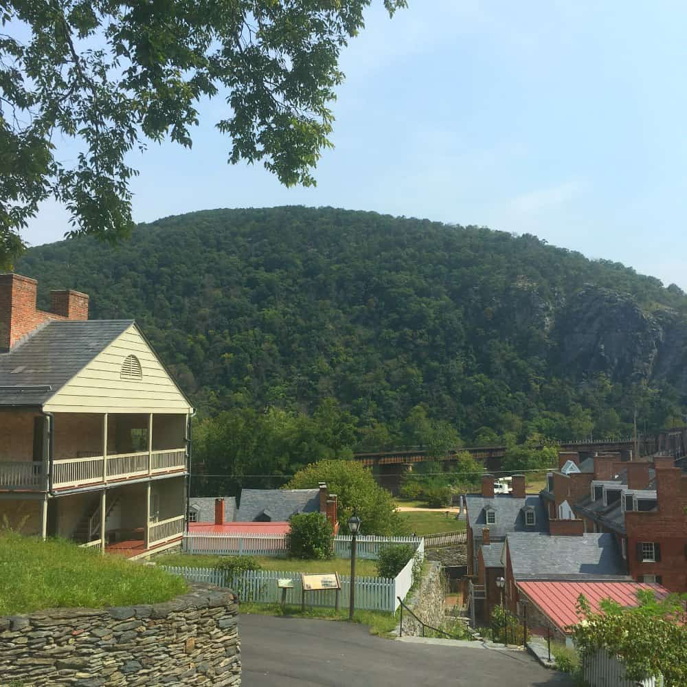 Mountain View of Harpers Ferry West Virginia