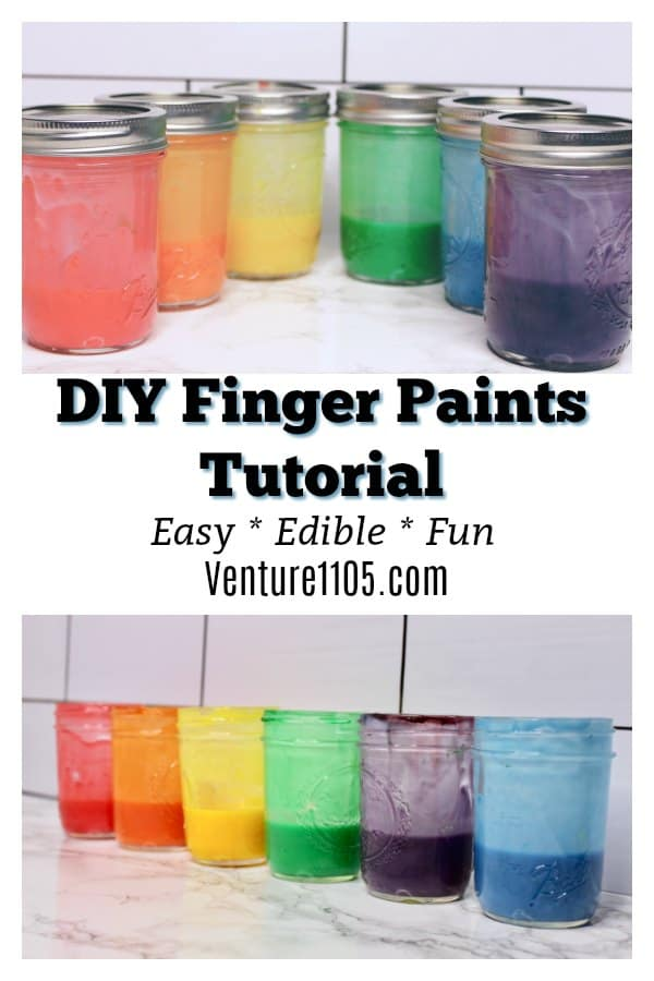 Easy DIY Finger Paints Tutorial