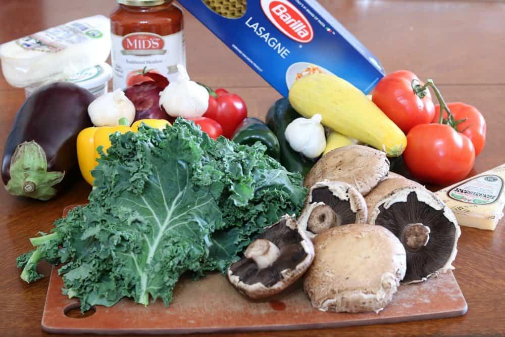 Vegetable Lasagna Ingredients