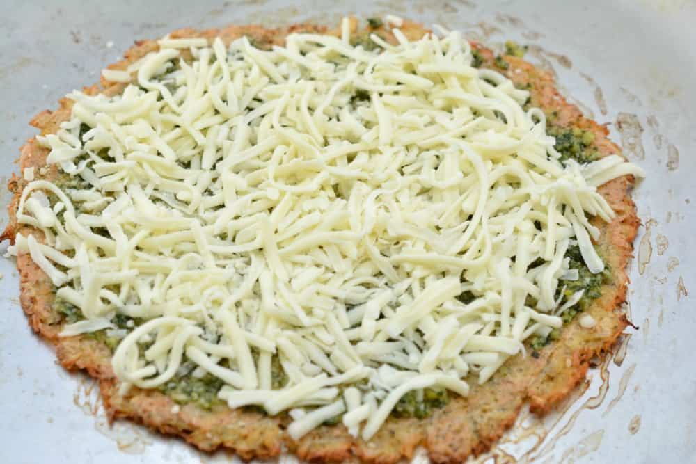 Keto Chicken Crust Pizza with Cheese