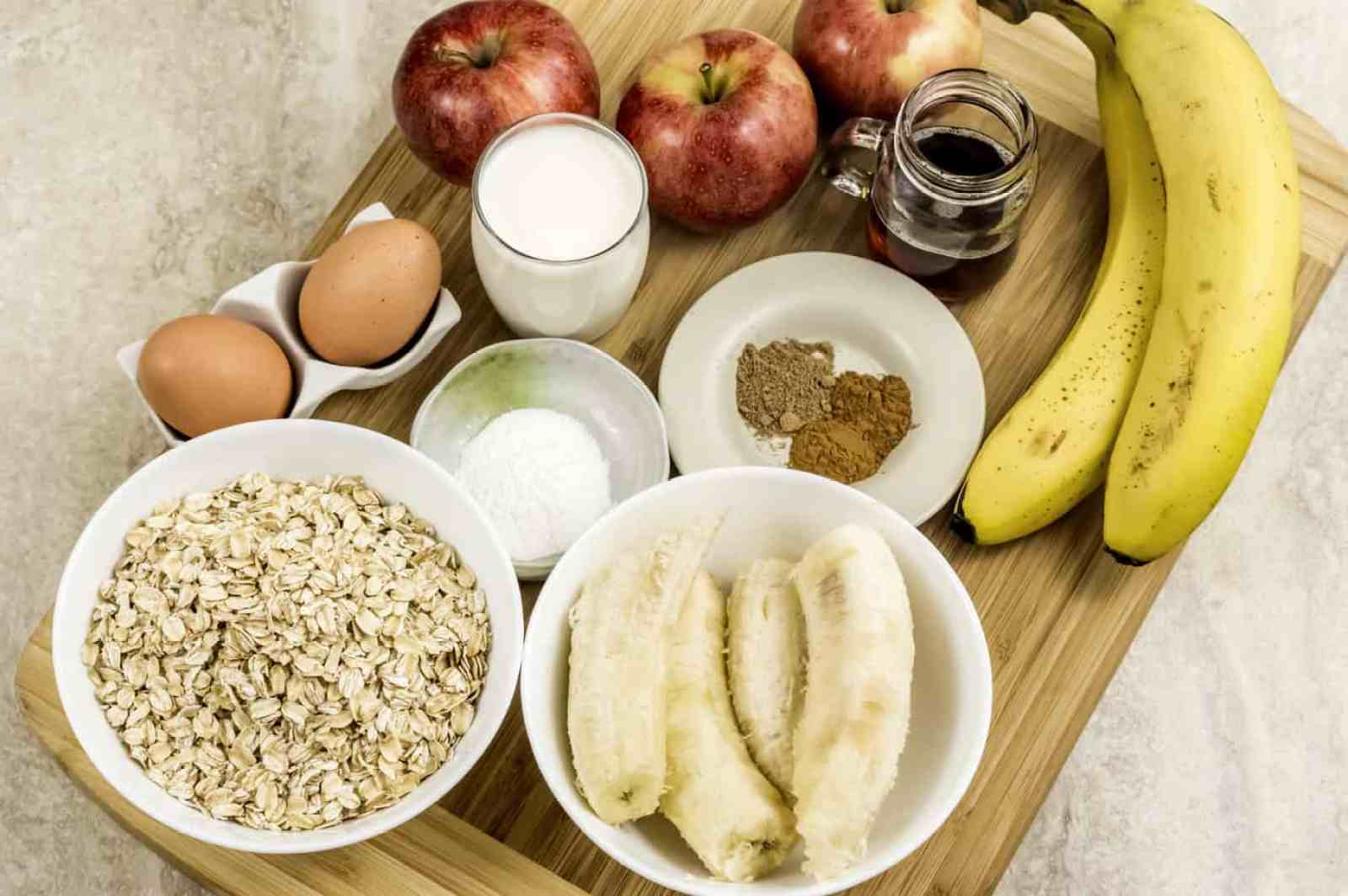 Apple Cinnamon Oatmeal Muffins Ingredients