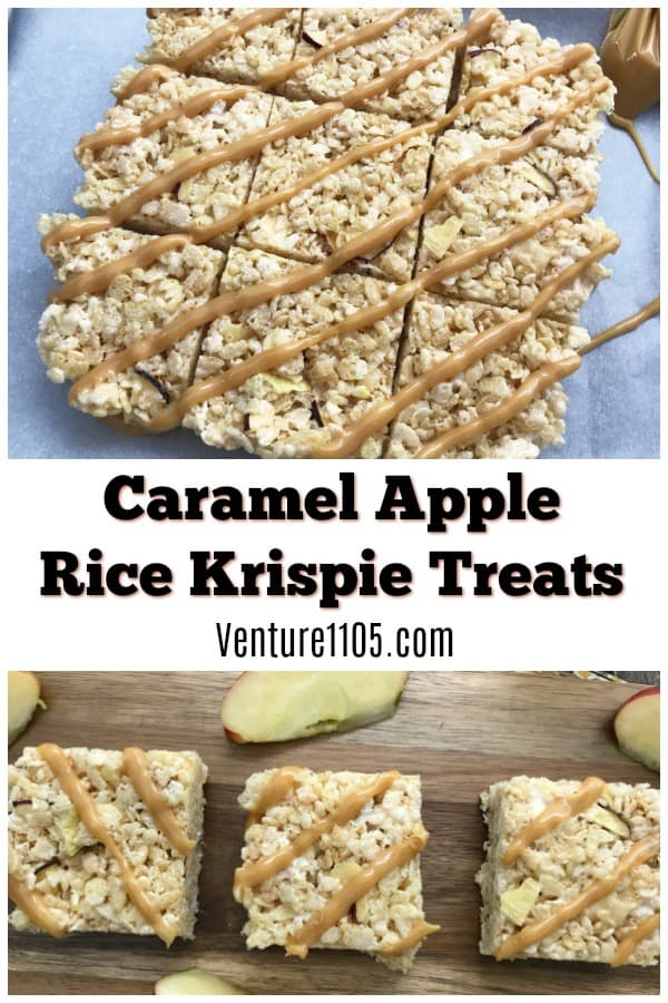 Caramel Apple Rice Krispie Treats
