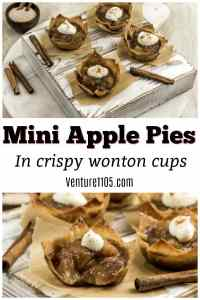 Mini Apple Pies in Wonton Cups – Rich And Crispy Treats
