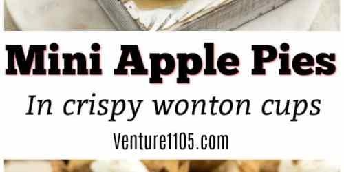 Mini Apple Pies in Crispy Wonton Cups