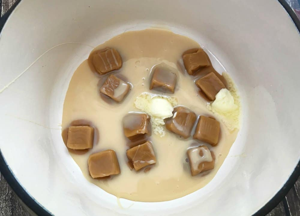 Melt the caramel