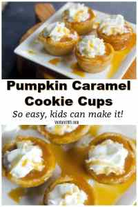Pumpkin Caramel Cookie Cups – Easiest Fall Dessert EVER!
