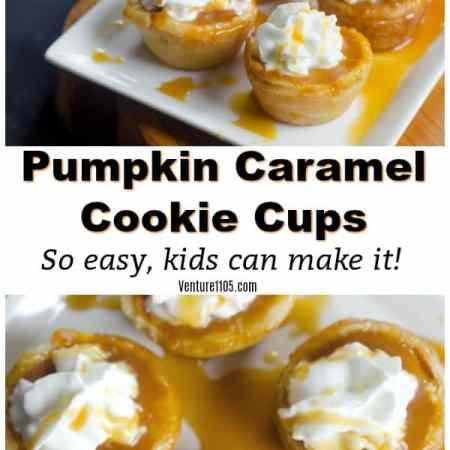 Pumpkin Caramel Cookie Cups - Easy Dessert Kids Can Make