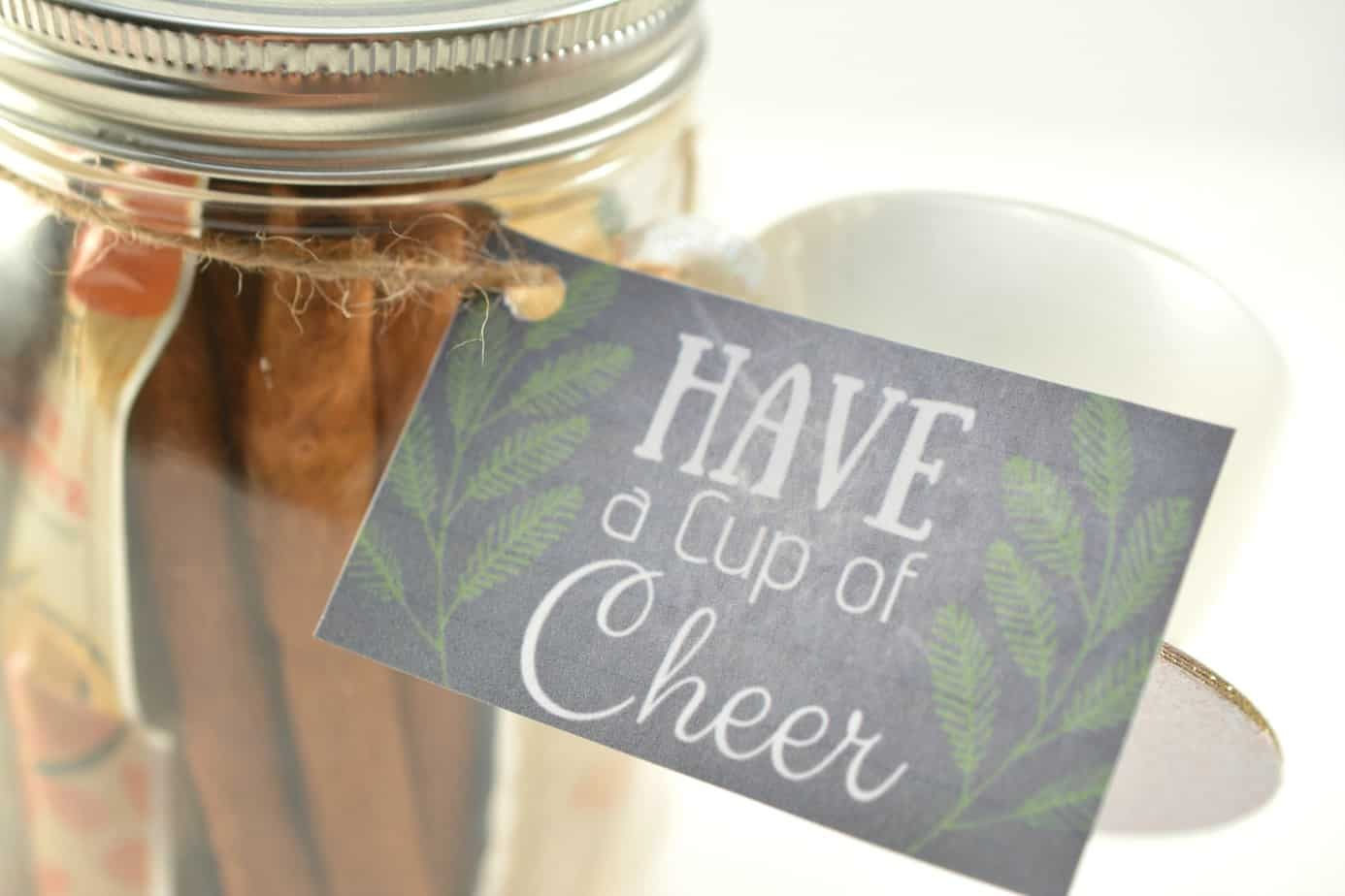 Have a Cup of Cheer Printable Tag