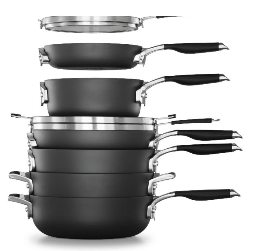 Calphalon Space Saving Hard-Anodized Nonstick 9-Piece Cookware Set