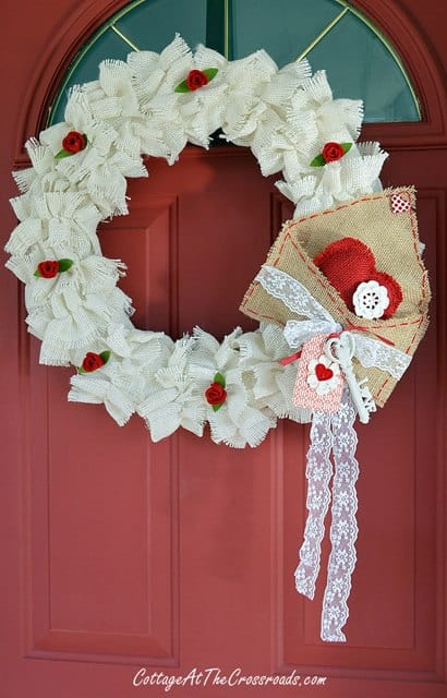 White Burlap Wreath