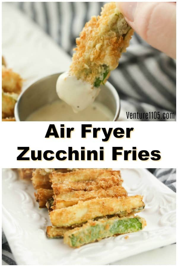 Keto Zucchini Fries Made In The Air Fryer Venture1105