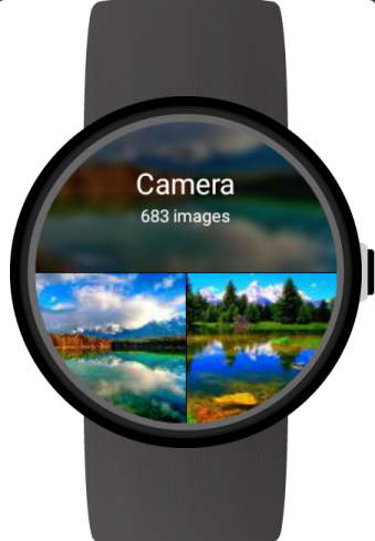 Photo gallery smart watch