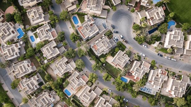 A suburban neighborhood.