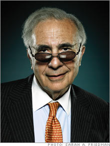 "Carl Icahn giving the universal facial expression for ""trying too hard to be cool."""