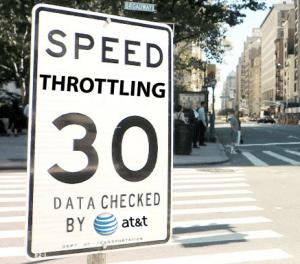 ATT, data throttling