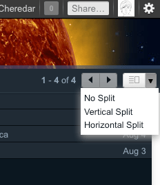 Gmail preview pane toggle