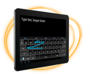 Swype on a tablet