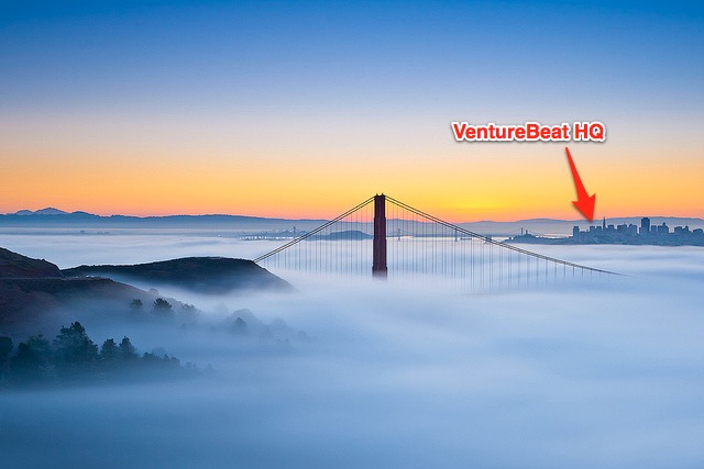 VentureBeat HQ, alongside the picturesque San Francisco Bay, is surrounded by fog.