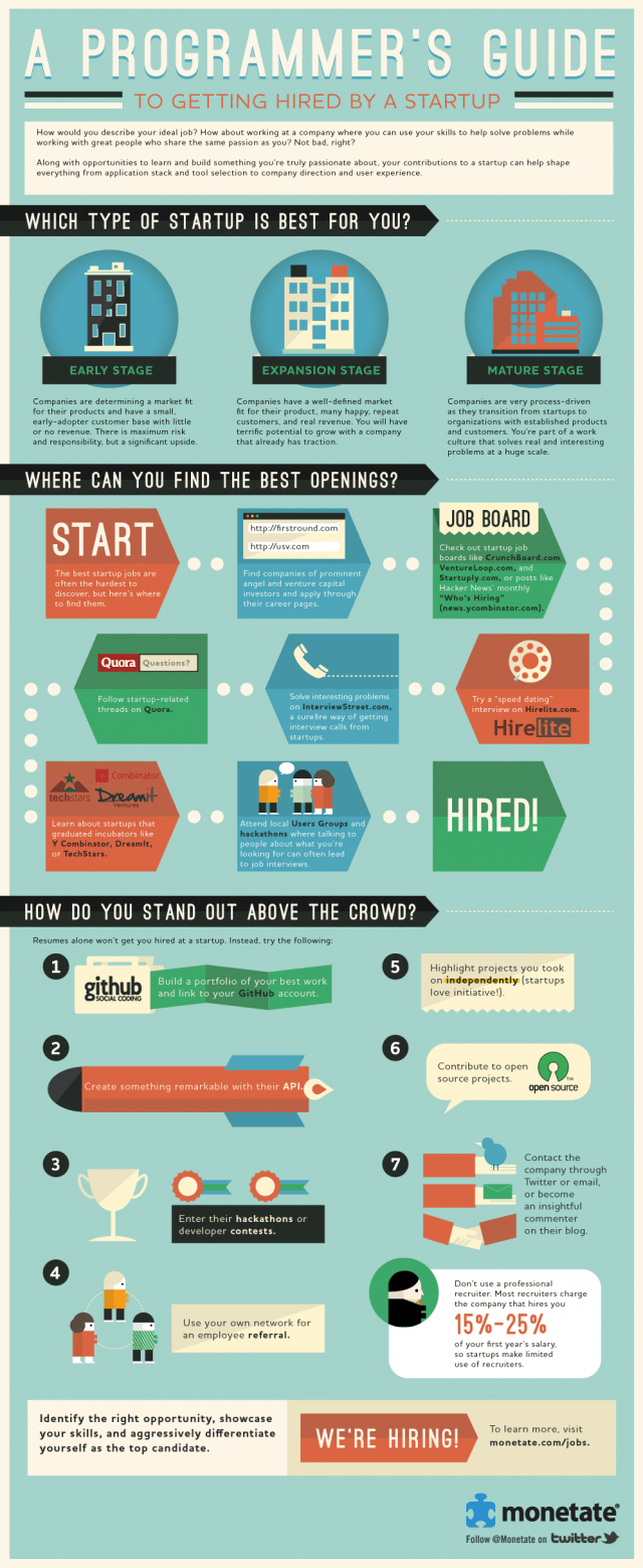Geting Hired By A Startup Infographic